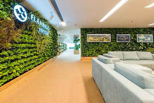 Mẫu thiết kế nội thất văn phòng đẹp tràn ngập ánh sáng và cây xanh ở Hà Nội - 1