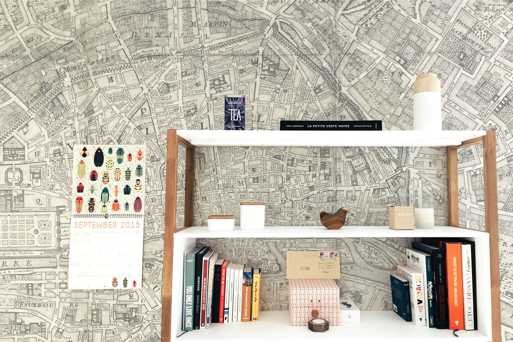 Trang trí nhà bằng bản đồ - 1
