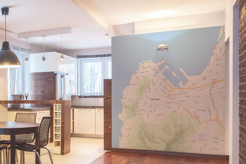 Trang trí nhà bằng bản đồ - 3