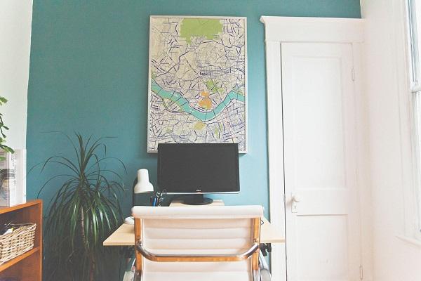 Trang trí nhà bằng bản đồ - 5