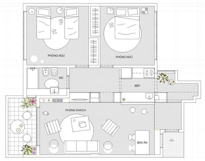 Thiết kế căn hộ 60m2 cực sáng tạo khi biến tường thành tủ đồ - 10