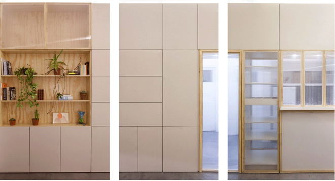 Thiết kế căn hộ 60m2 cực sáng tạo khi biến tường thành tủ đồ - 4