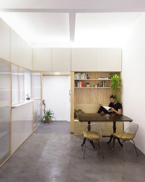 Thiết kế căn hộ 60m2 cực sáng tạo khi biến tường thành tủ đồ - 6
