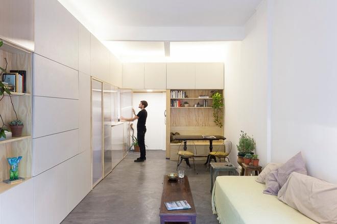 Thiết kế căn hộ 60m2 cực sáng tạo khi biến tường thành tủ đồ - 7