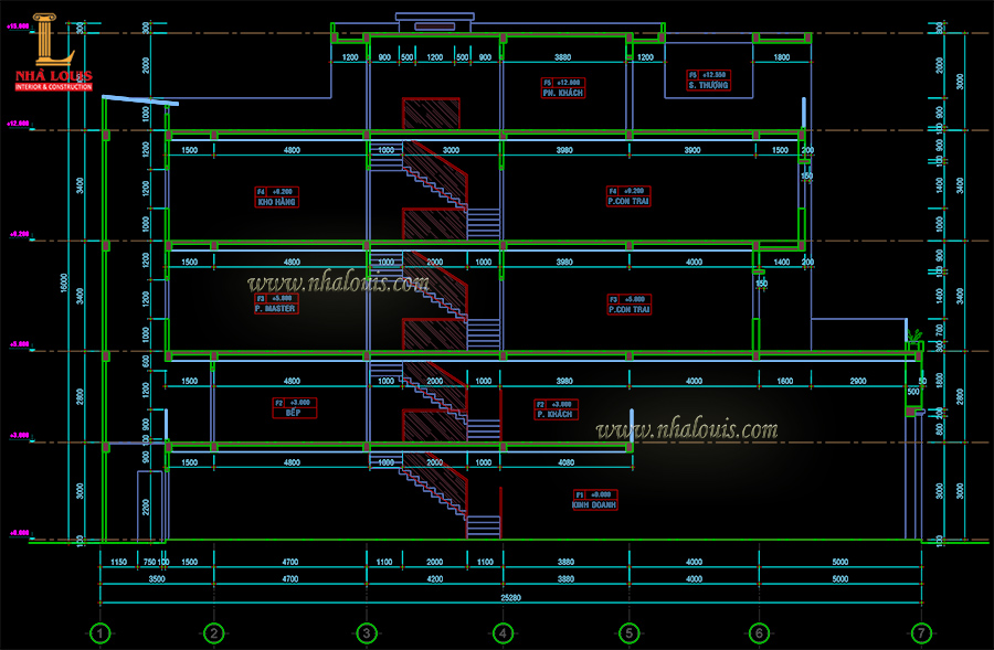 tư vấn xây nhà phố 1 trệt 2 lầu