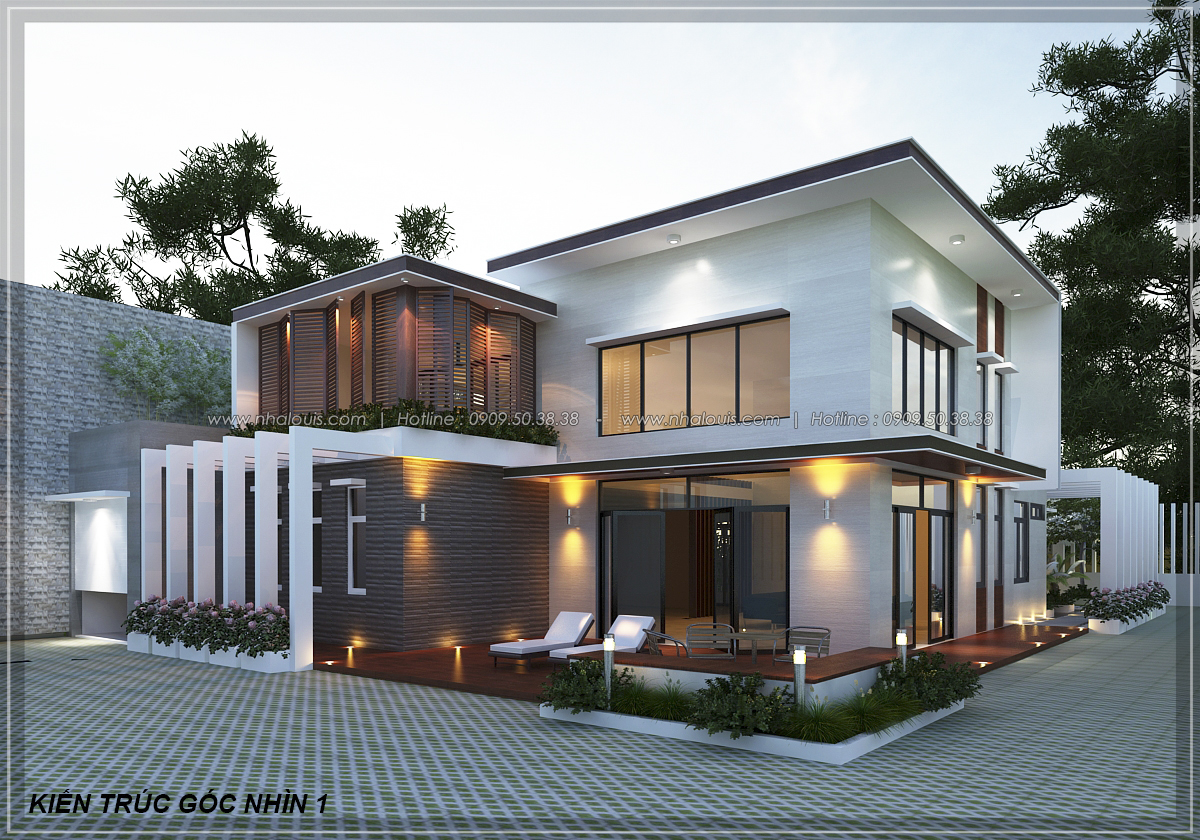 Mẫu thiết kế biệt thự vườn 2 tầng 3 phòng ngủ tại Kiên Giang