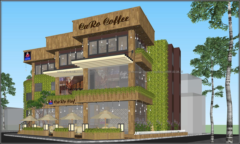 mẫu thiết kế quán cà phê không gian xanh ở Bình Dương