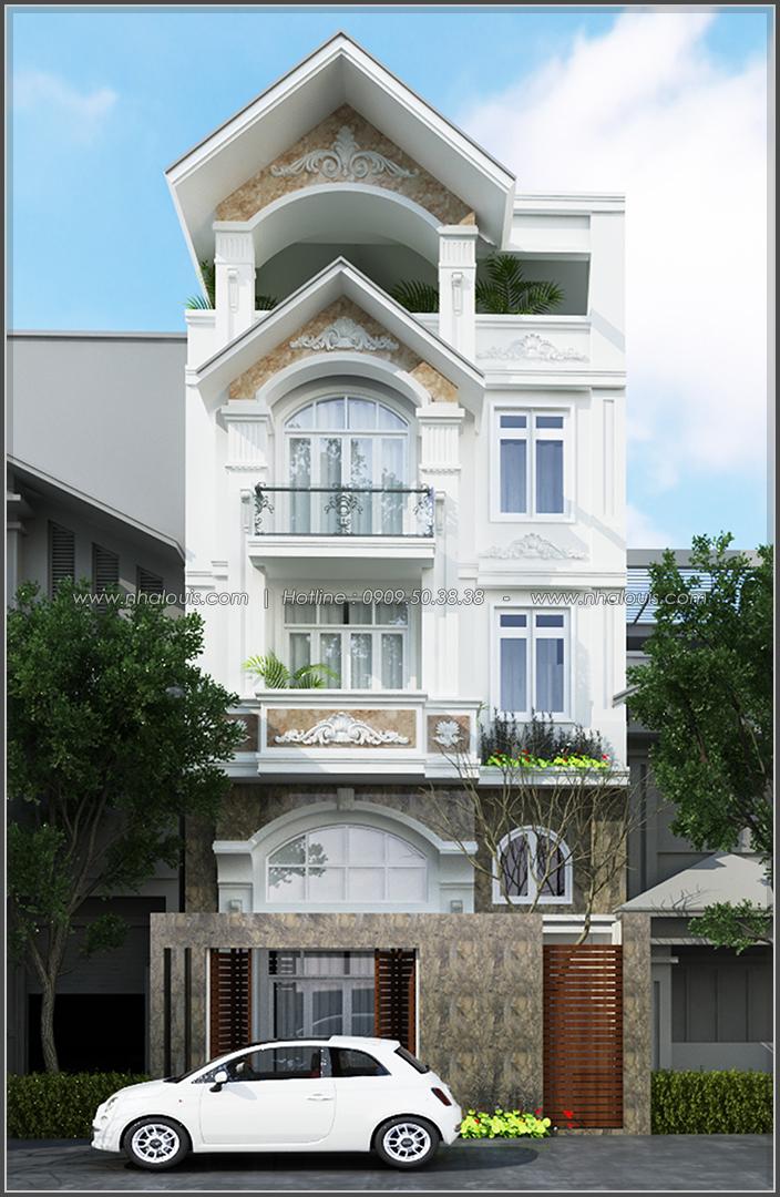 Thiết kế biệt thự có hồ bơi trong nhà ở quận Tân Bình đẹp ấn tượng