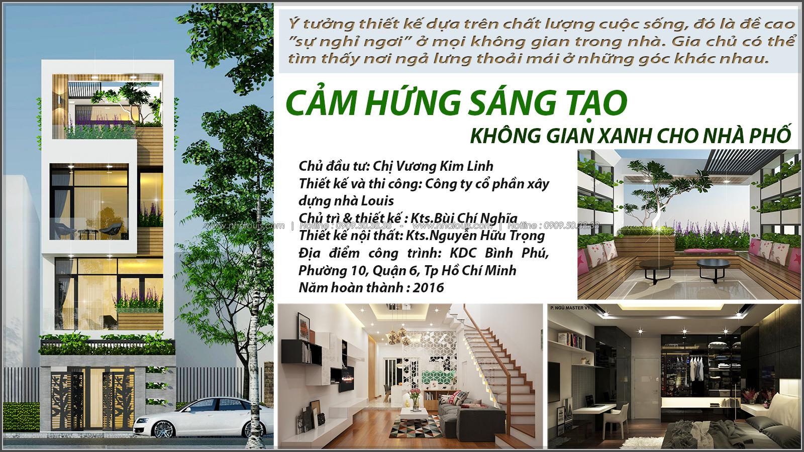 Thiết kế mặt tiền nhà phố 5m 3 tầng ở quận 6 đẹp hiện đại và sang trọng - 01