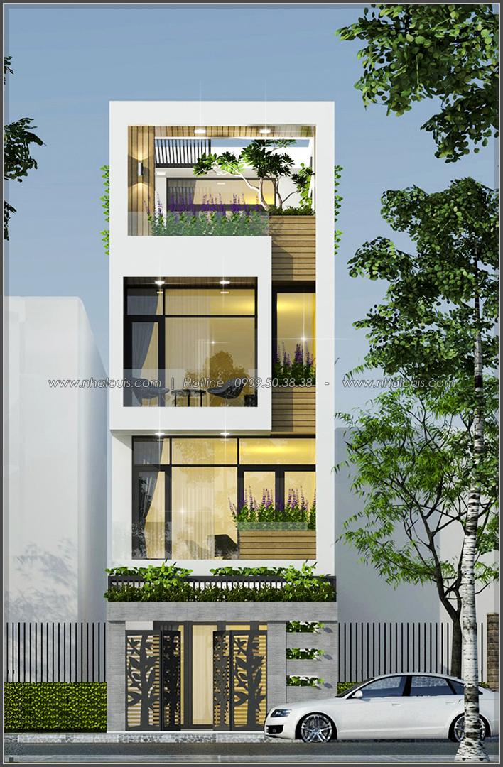 Thiết kế mặt tiền nhà phố 5m 3 tầng ở quận 6 đẹp hiện đại và sang trọng - 02