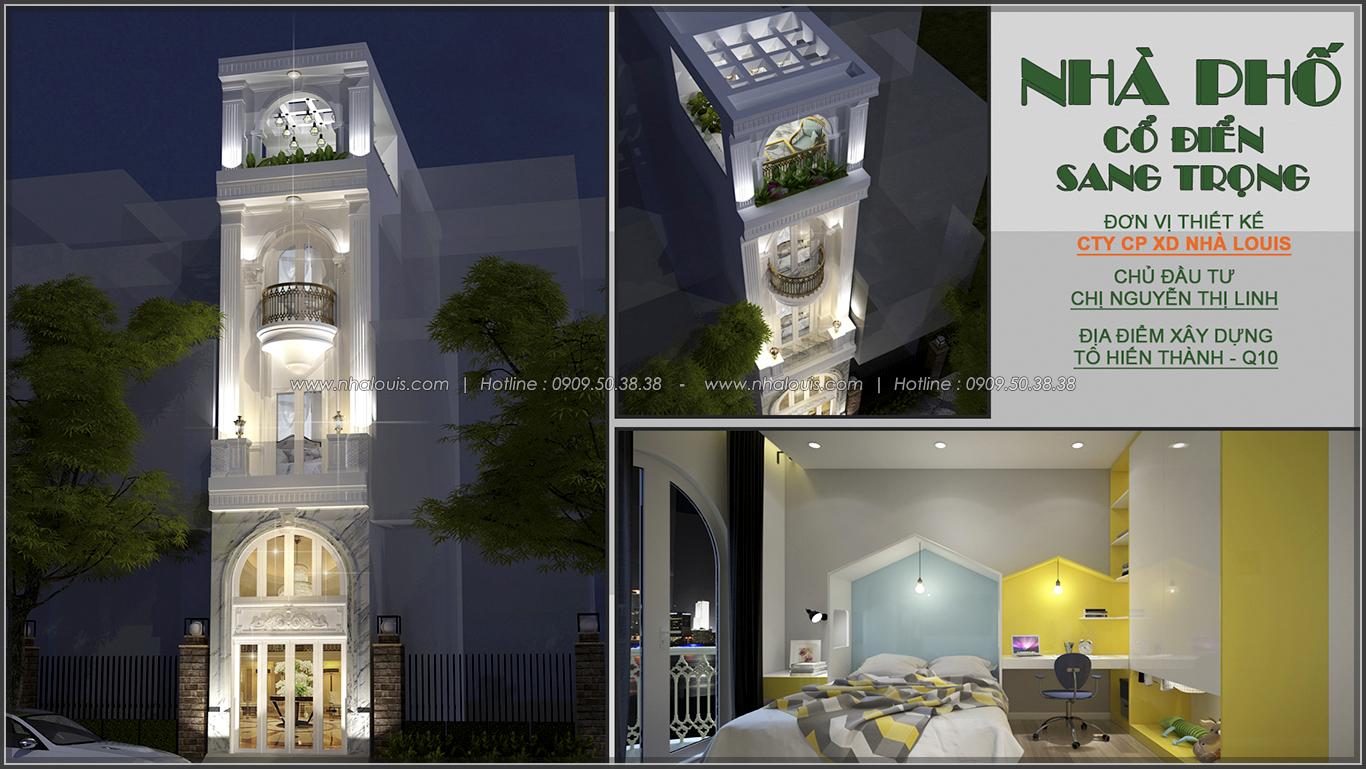 Thiết kế nhà mặt tiền 3.5m phong cách cổ điển cực chất tại quận 10 - 1