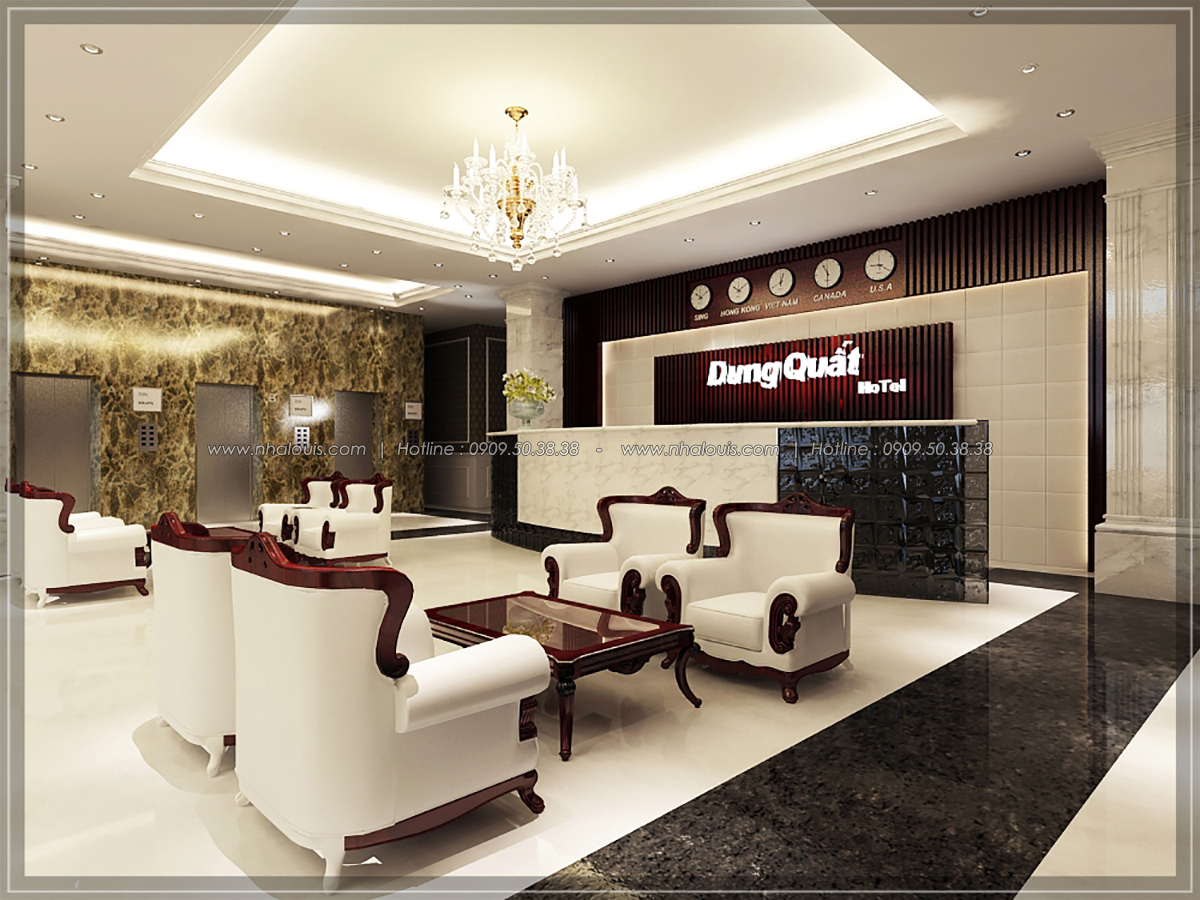 Thiết kế nội thất khách sạn 5 sao ở Phú Quốc đẹp lộng lẫ và tráng lệ