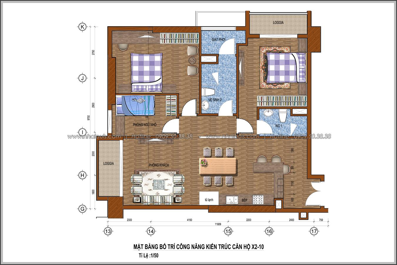Đứng hình với thiết kế nội thất căn hộ Sunrise City đẹp không tì vết - 15