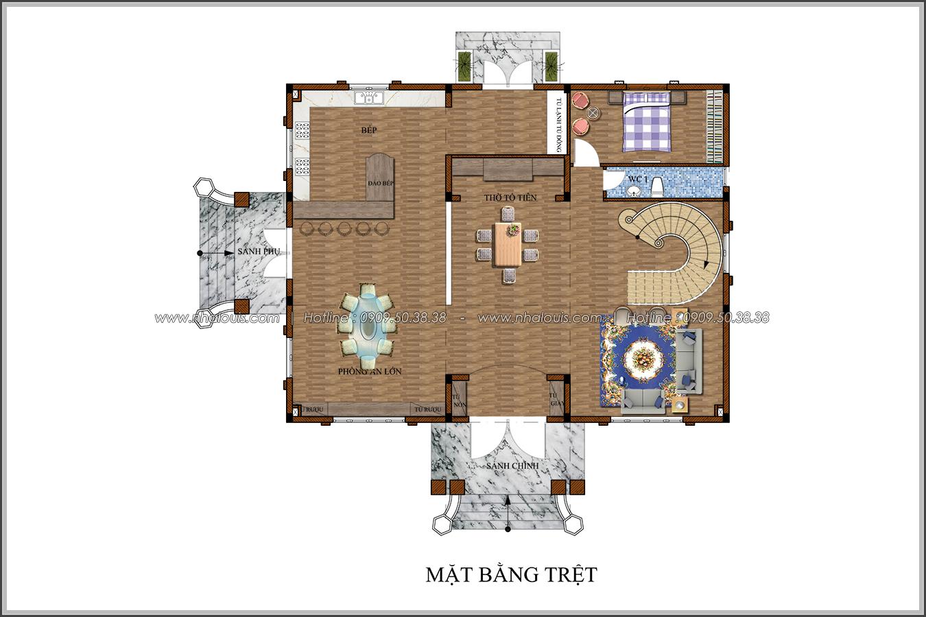 Lạc trôi với thiết kế biệt thự 3 tầng kiểu pháp tại Biên Hòa tráng lệ - 04