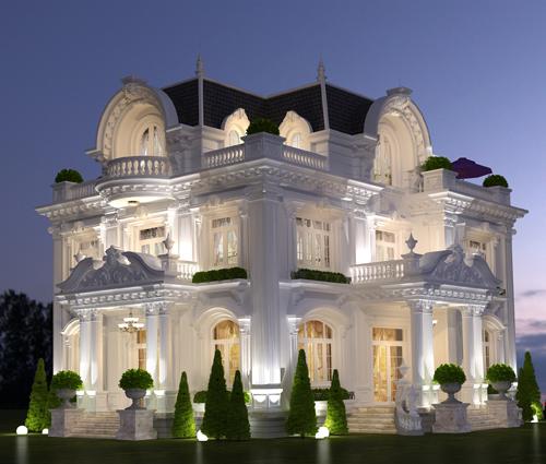 Lạc trôi với thiết kế biệt thự 3 tầng kiểu pháp tại Biên Hòa tráng lệ