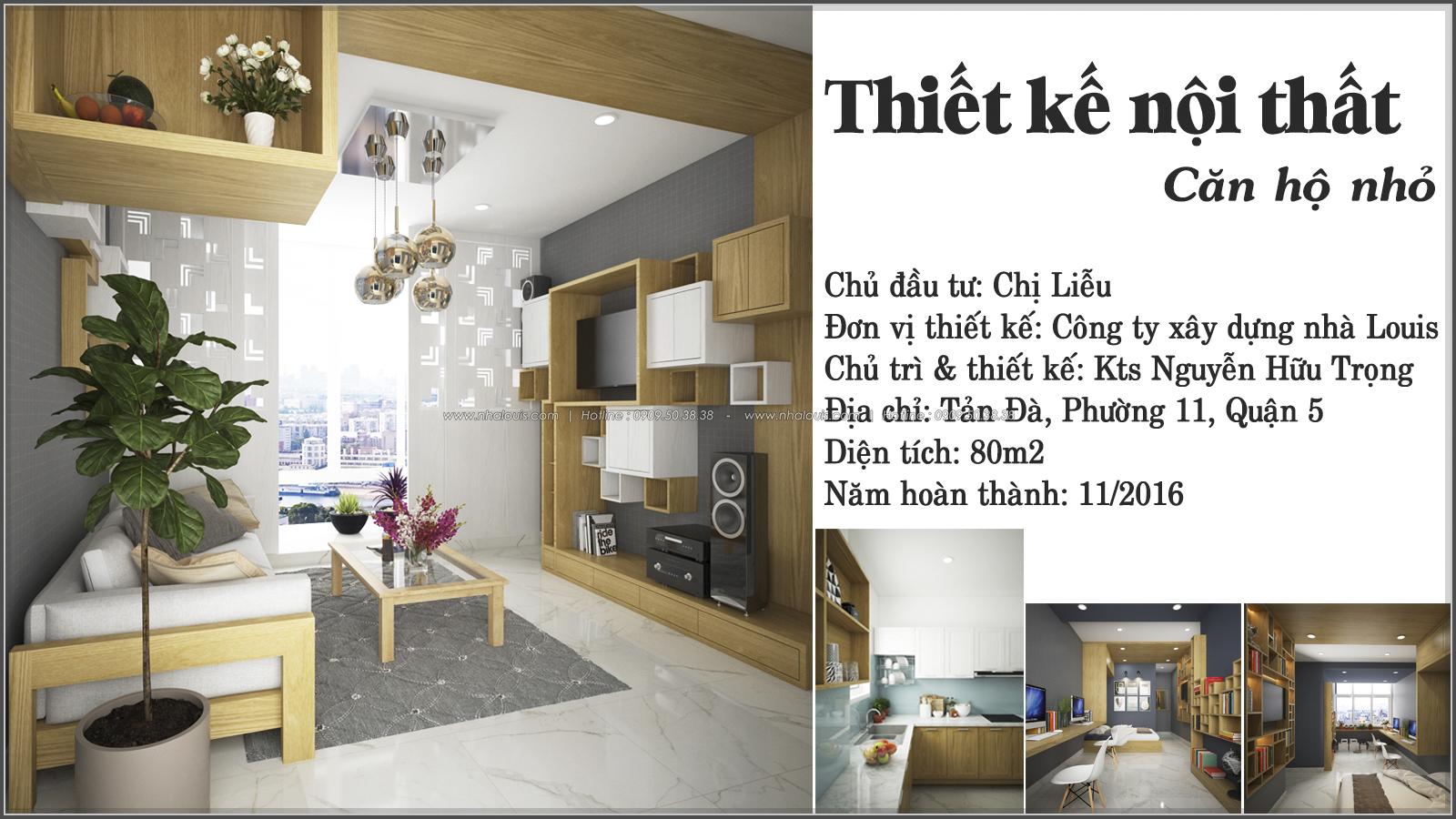 Ngỡ ngàng với thiết kế nội thất căn hộ nhỏ đẹp tinh tế ở Quận 5 - 01