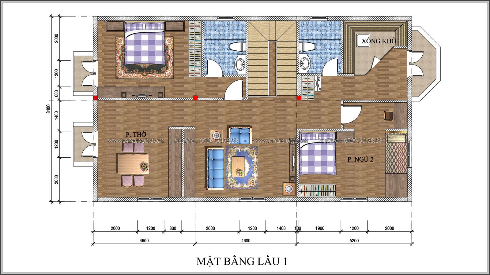 Thiết kế biệt thự 2 tầng Đà Lạt độc đáo và khác biệt tại xứ sở ngàn hoa - 07