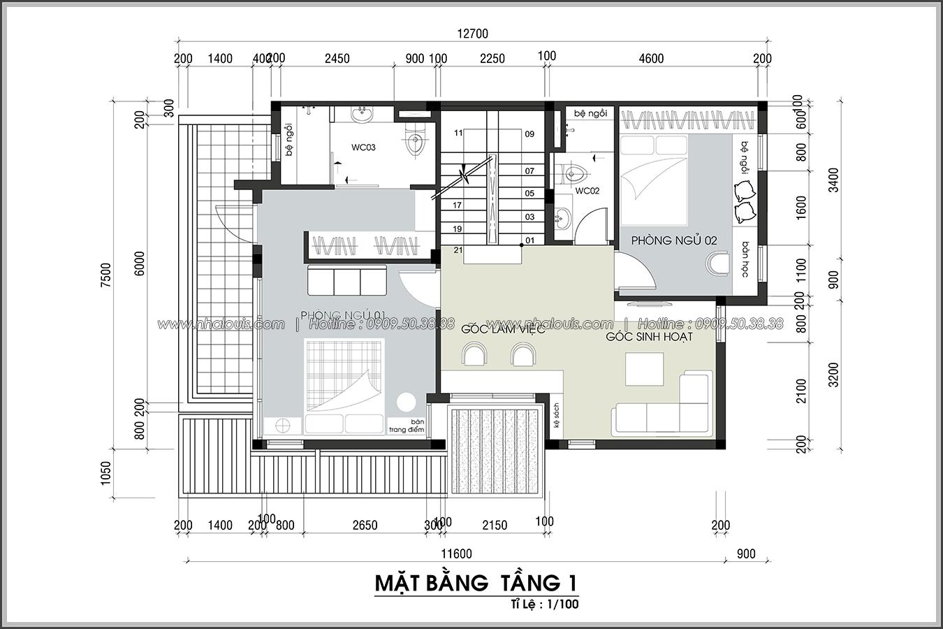 Thiết kế biệt thự 3 tầng đẹp đẳng cấp ngay tại dự án Lucasta Villa Quận 9 - 18