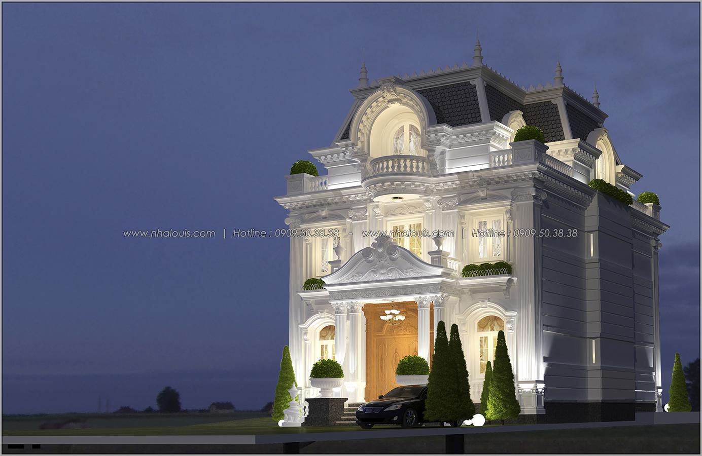 Thiết kế biệt thự cổ điển Châu Âu ở Sóc Trăng 2 mặt tiền đẹp lung linh - 02