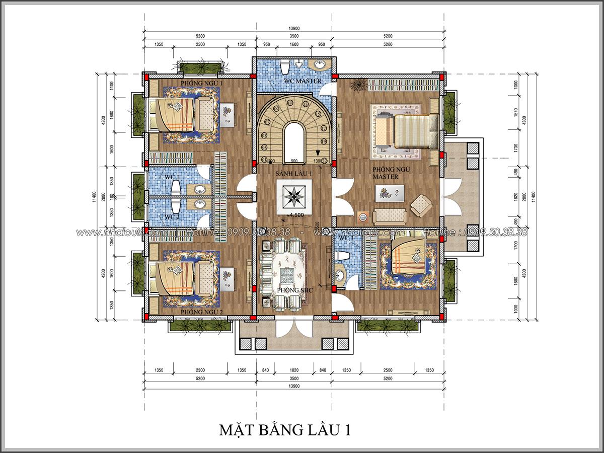 Thiết kế biệt thự cổ điển Châu Âu ở Sóc Trăng 2 mặt tiền đẹp lung linh - 18