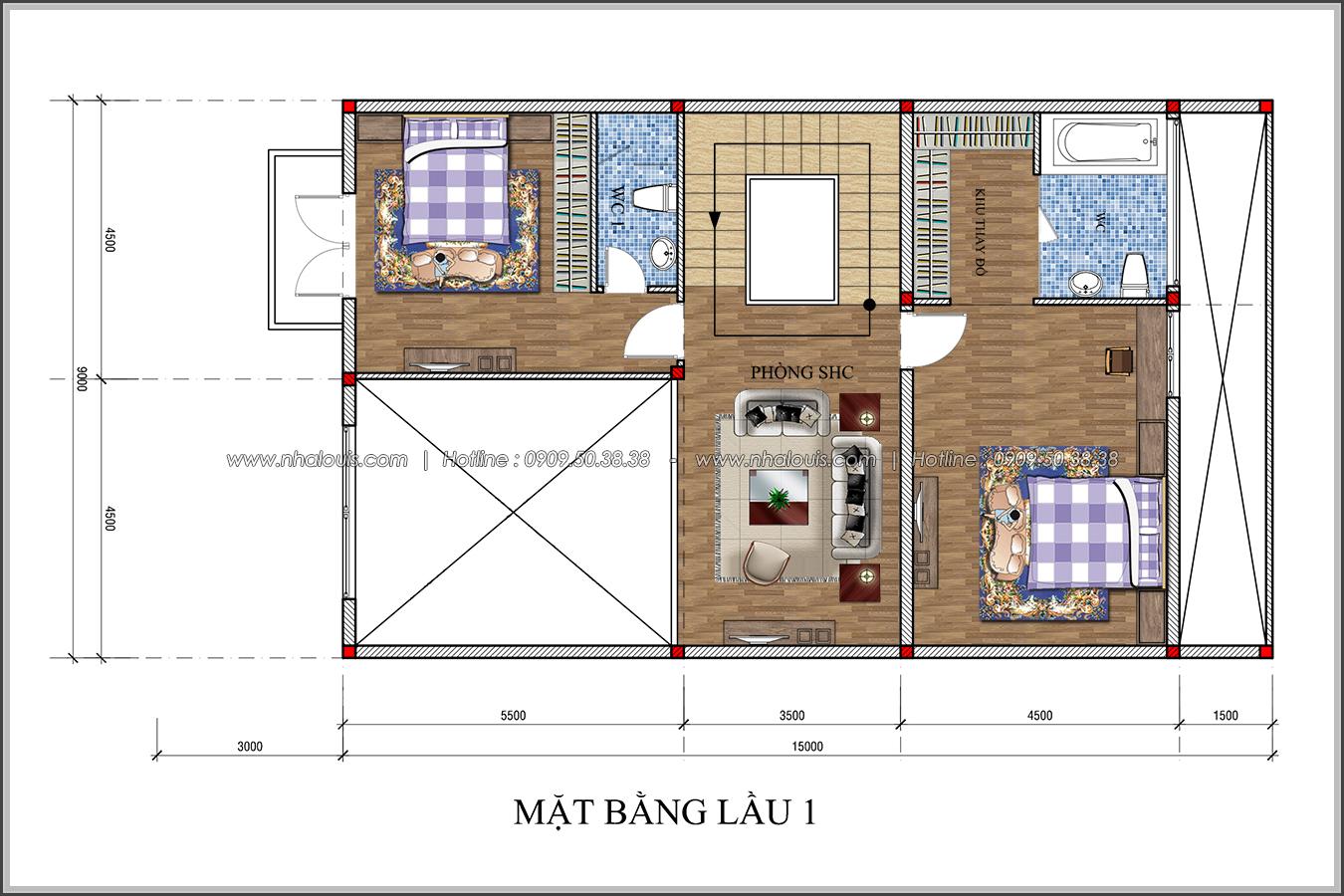 Thiết kế biệt thự tân cổ điển tại Đồng Nai đẹp rạng ngời phố thị - 04