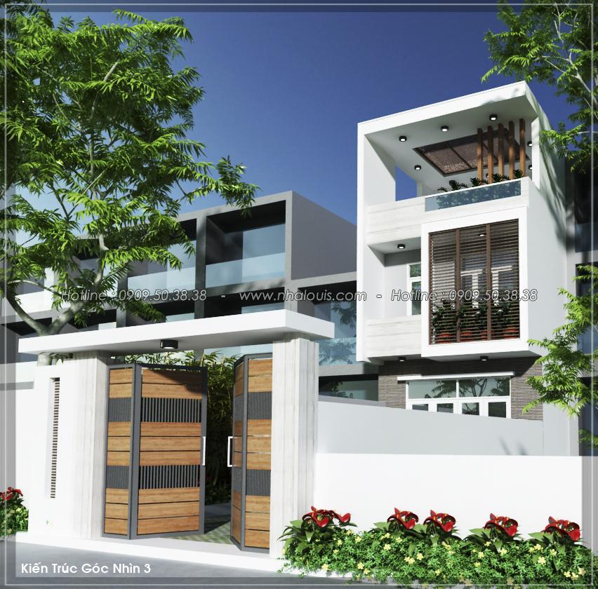 Thiết kế nhà 3 tầng mặt tiền 5m ở Quận 12 đẹp hiện đại và sang trọng - 01