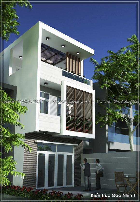 Thiết kế nhà 3 tầng mặt tiền 5m ở Quận 12 đẹp hiện đại và sang trọng - 02