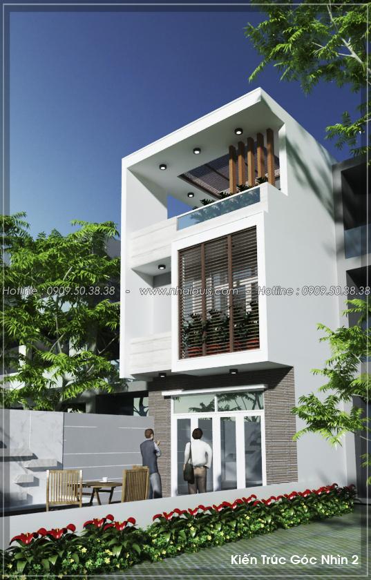 Thiết kế nhà 3 tầng mặt tiền 5m ở Quận 12 đẹp hiện đại và sang trọng - 03