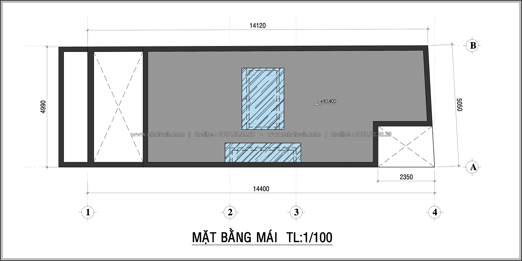 Thiết kế nhà 3 tầng mặt tiền 5m ở Quận 12 đẹp hiện đại và sang trọng - 07