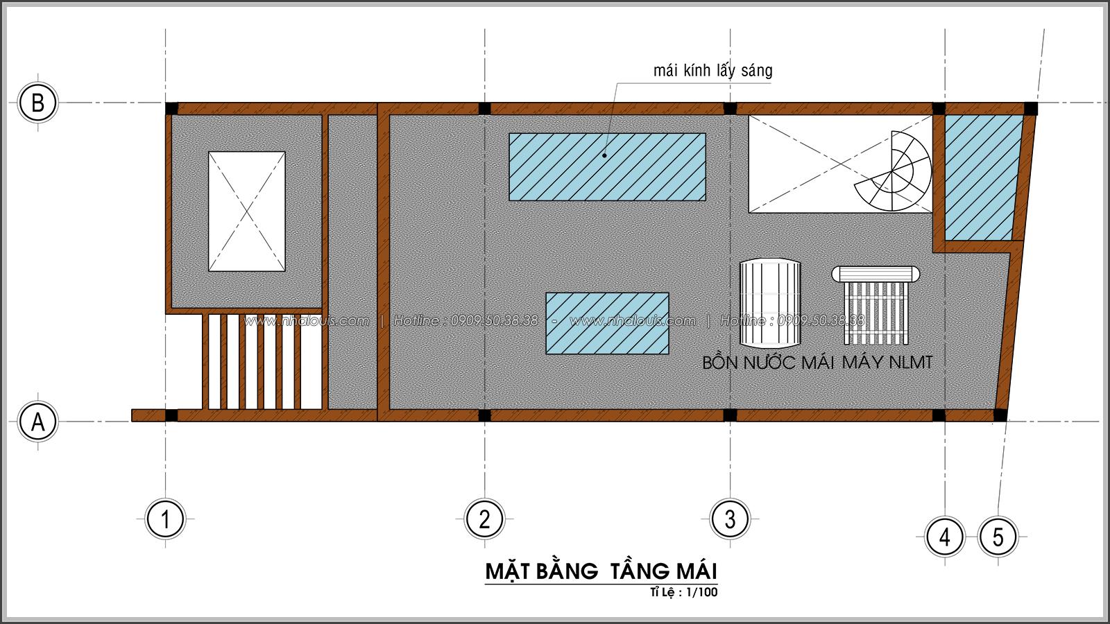 Thiết kế nhà ống 4 tầng tại Tân Bình mặt tiền 5m có gara ô tô tiện lợi - 08