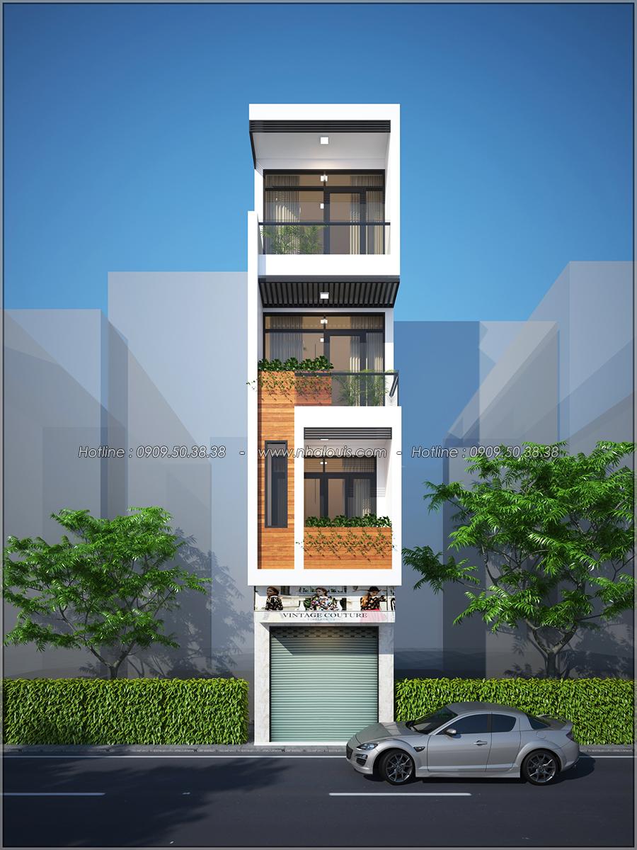 Thiết kế nhà phố 4 tầng kết hợp kinh doanh mặt tiền 3.3m tại chợ Tân Bình - 01
