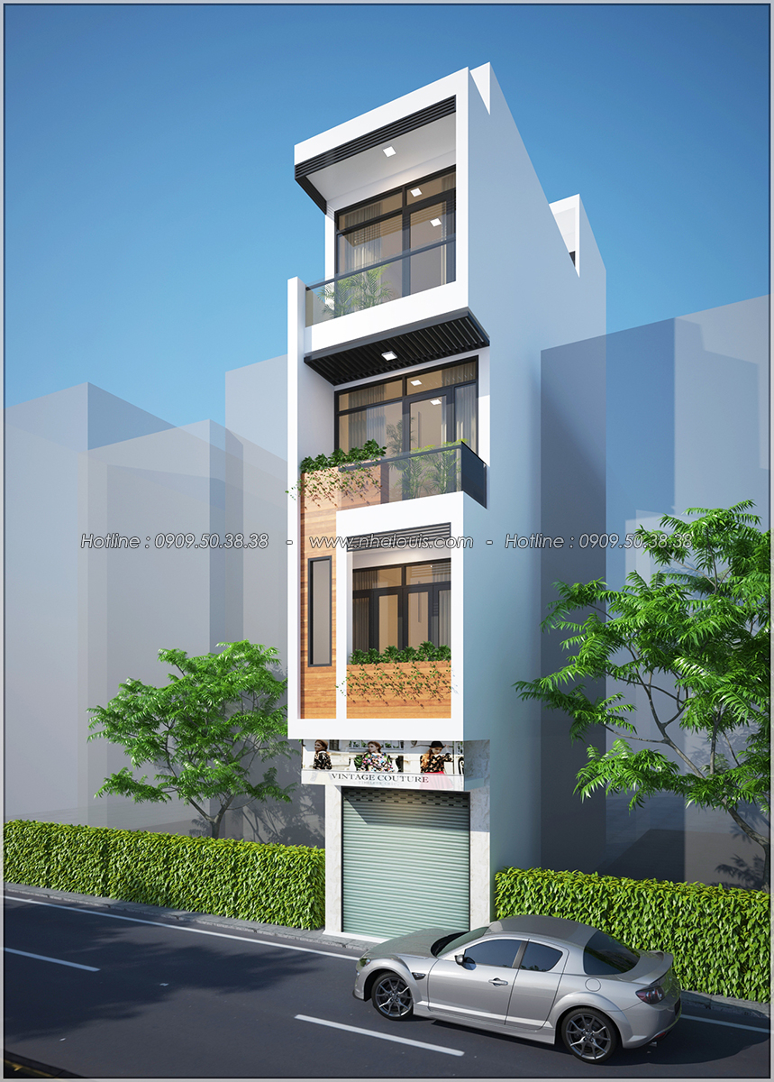 Thiết kế nhà phố 4 tầng kết hợp kinh doanh mặt tiền 3.3m tại chợ Tân Bình - 02