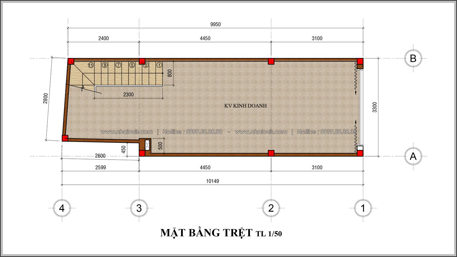 Thiết kế nhà phố 4 tầng kết hợp kinh doanh mặt tiền 3.3m tại chợ Tân Bình - 04