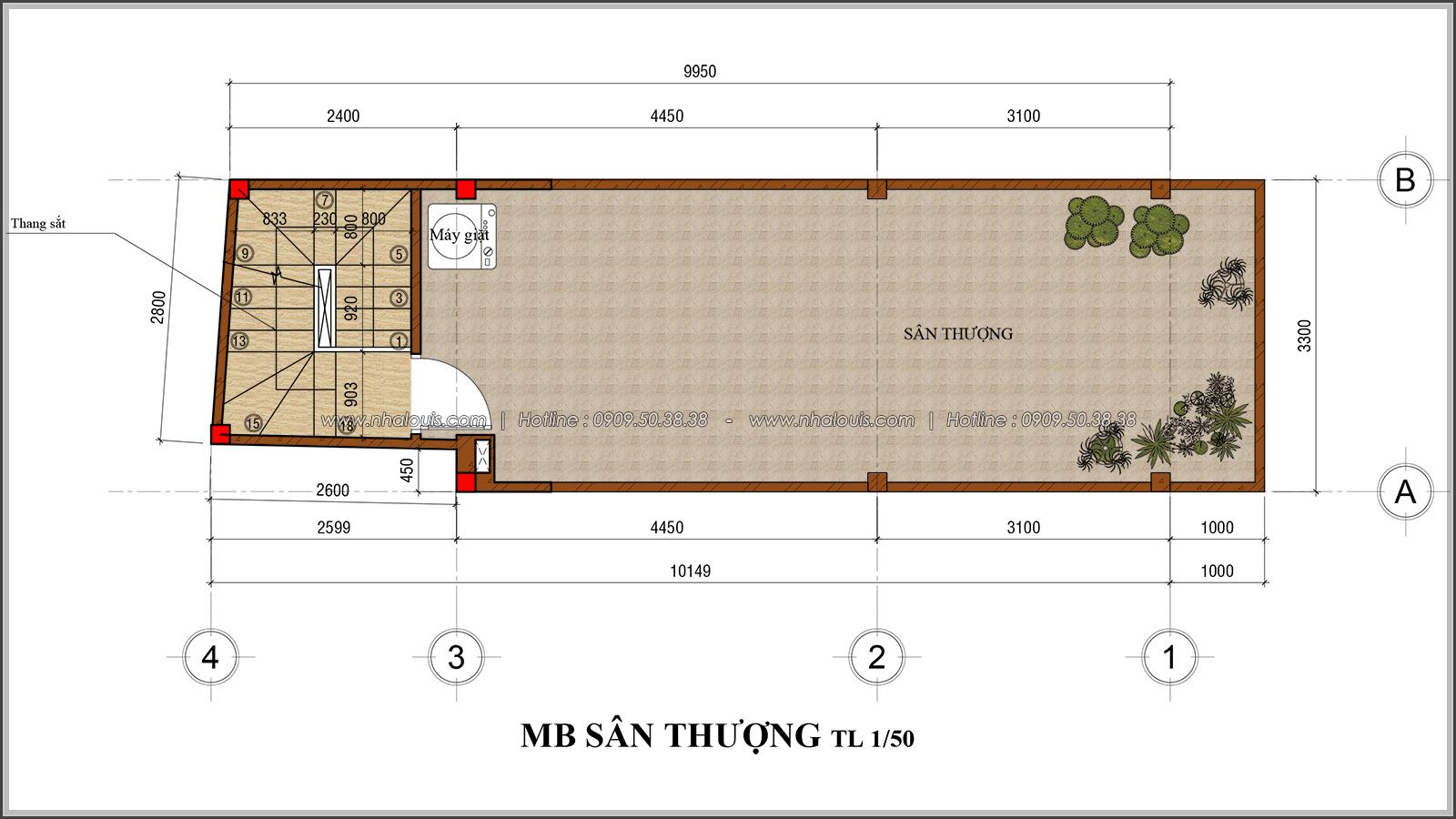 Thiết kế nhà phố 4 tầng kết hợp kinh doanh mặt tiền 3.3m tại chợ Tân Bình - 08