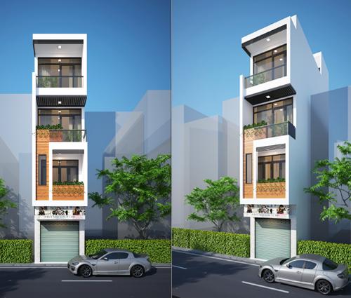 Thiết kế nhà phố 4 tầng kết hợp kinh doanh mặt tiền 3.3m tại chợ Tân Bình