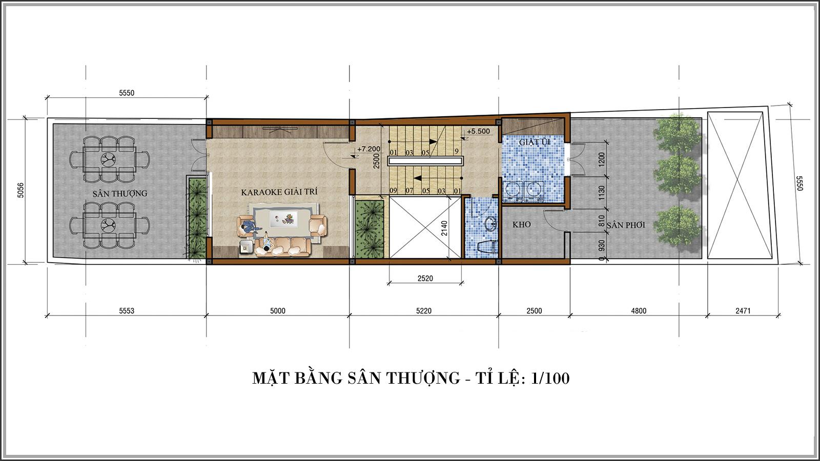 Thiết kế nhà phố mặt tiền 5m kết hợp kinh doanh tiện lợi tại Tân Bình - 07