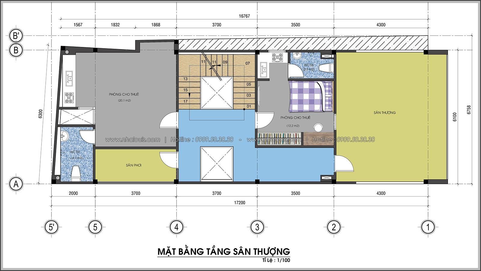Thiết kế nhà trọ cho thuê ở Tân Bình giúp gia chủ tiết kiệm chi phí - 07