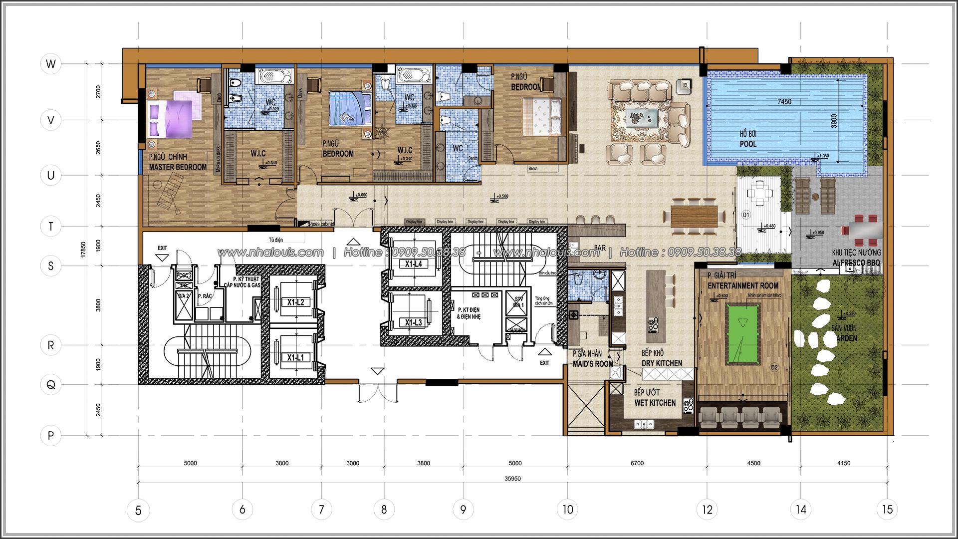 Thiết kế nội thất căn hộ penthouse tại Sunrise City hoành tráng lệ - 01