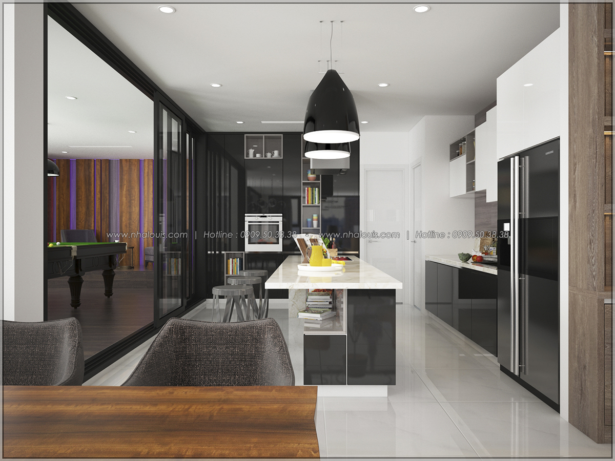 Thiết kế nội thất căn hộ penthouse tại Sunrise City hoành tráng lệ - 02