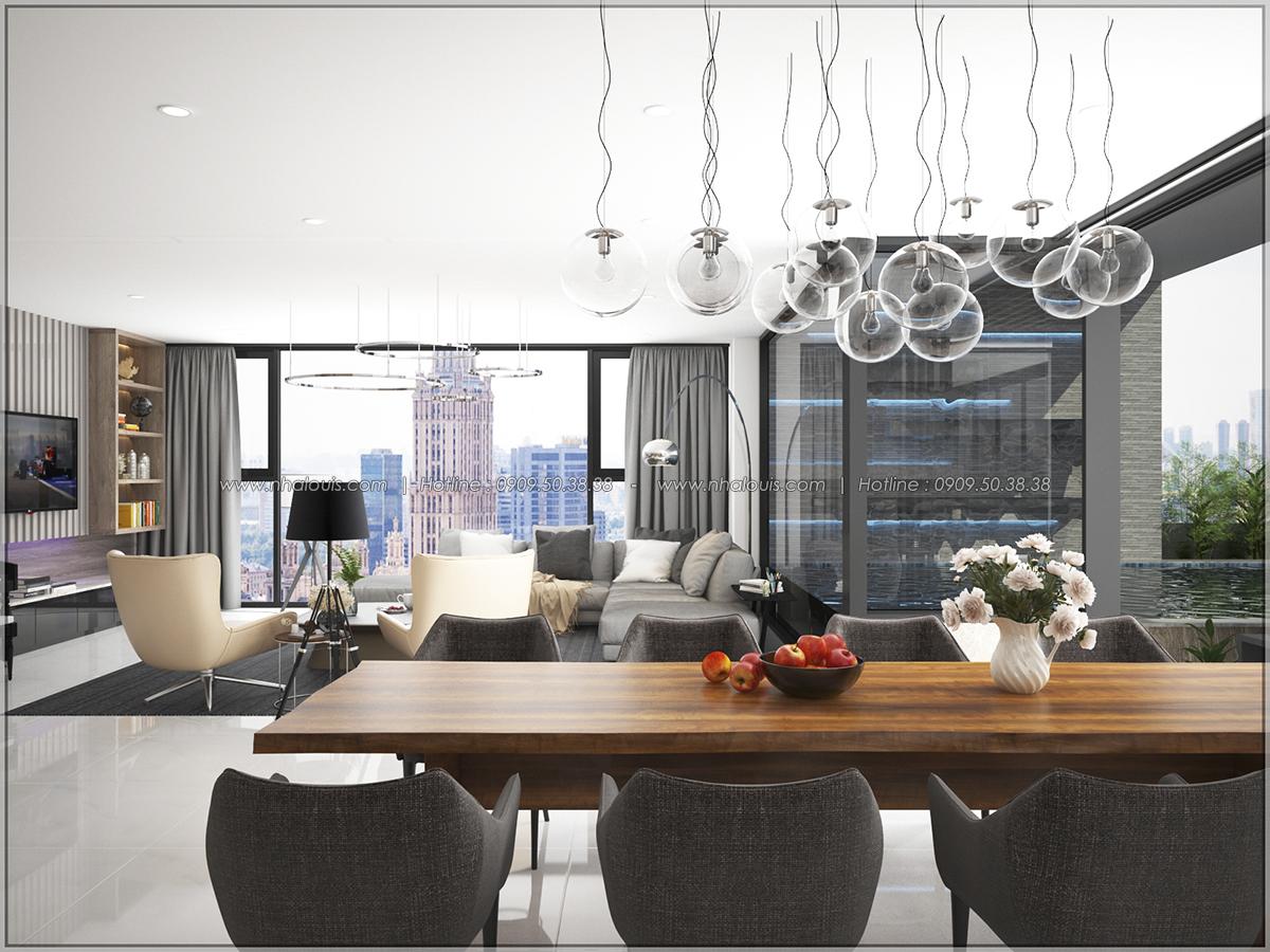 Thiết kế nội thất căn hộ penthouse tại Sunrise City hoành tráng lệ - 07