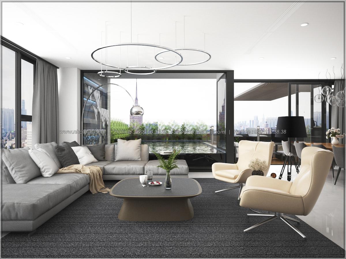 Thiết kế nội thất căn hộ penthouse tại Sunrise City hoành tráng lệ - 09