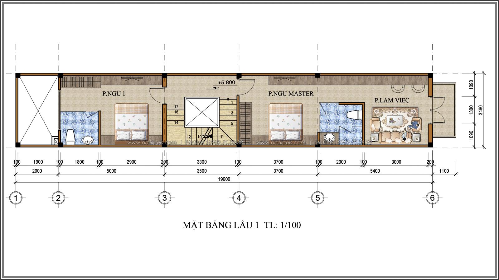 Lạc trôi với thiết kế nhà ống 3 tầng cổ điển cực chất tại Quận 3 - 05