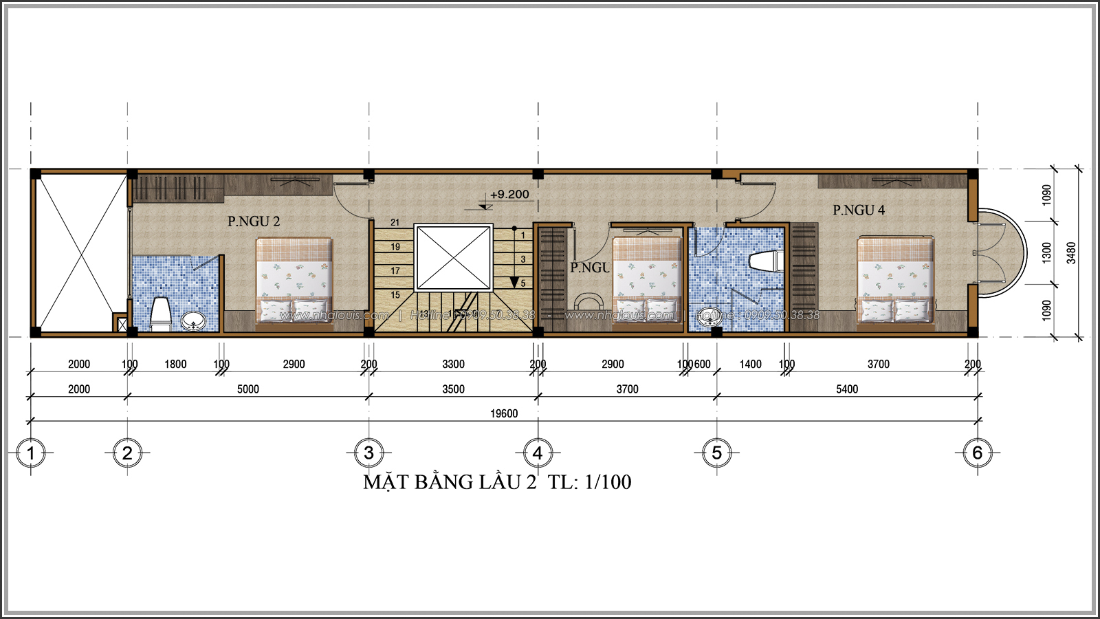 Lạc trôi với thiết kế nhà ống 3 tầng cổ điển cực chất tại Quận 3 - 06