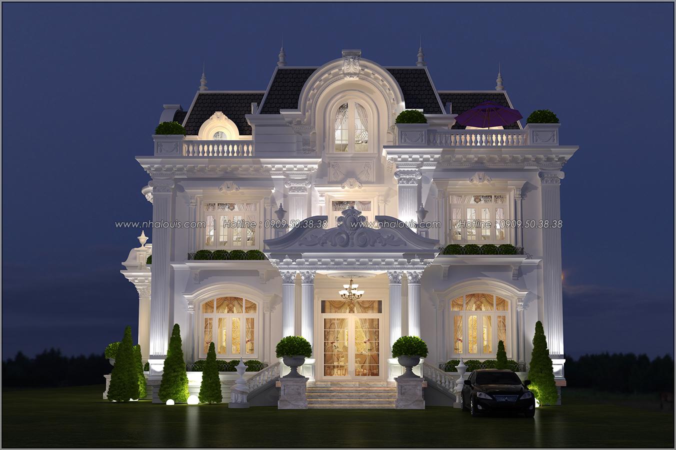 Biệt thự 3 tầng kiểu Pháp hoành tráng tại Biên Hòa đầy mê hoặc - 01