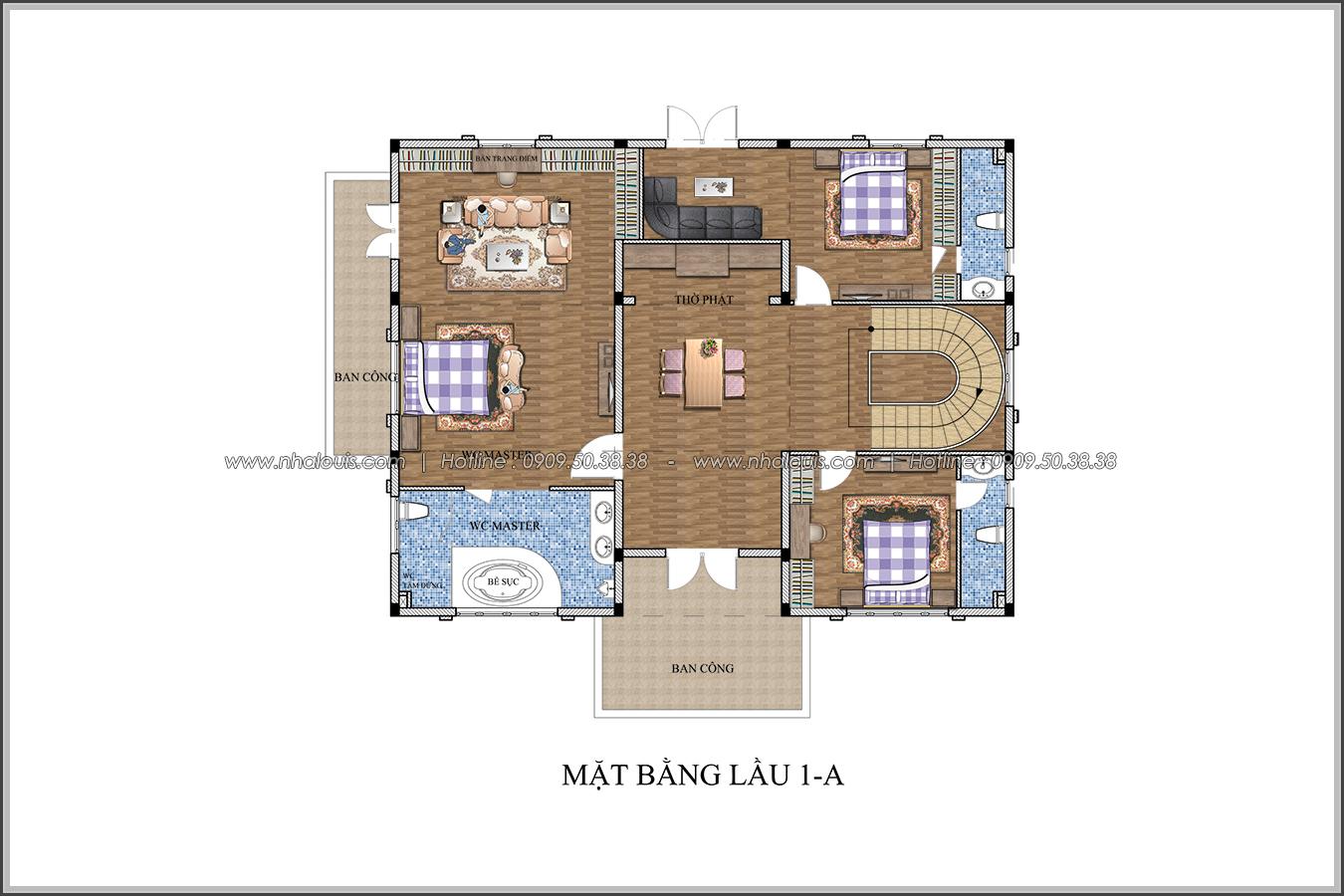 Biệt thự 3 tầng kiểu Pháp hoành tráng tại Biên Hòa đầy mê hoặc - 06