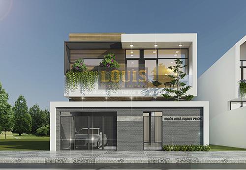 Biệt thự mini 2 tầng tại Bình Dương với thiết kế hiện đại