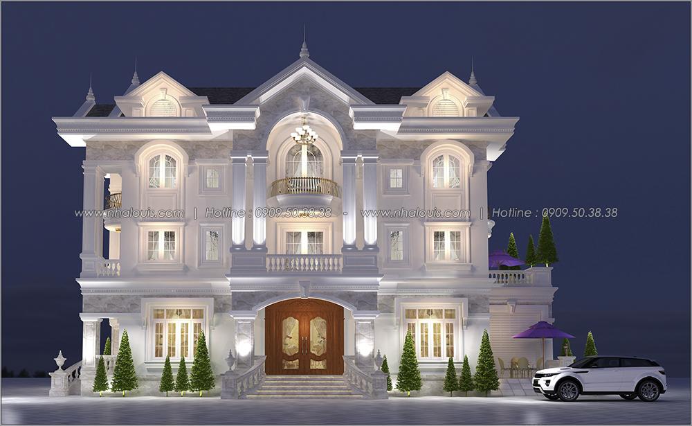 Ngỡ ngàng với thiết kế biệt thự cổ điển 3 tầng tại Tân Phú có gara ô tô - 01