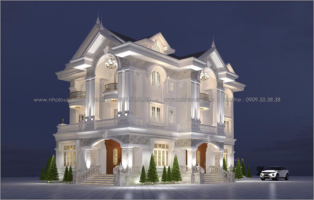Ngỡ ngàng với thiết kế biệt thự cổ điển 3 tầng tại Tân Phú có gara ô tô - 02