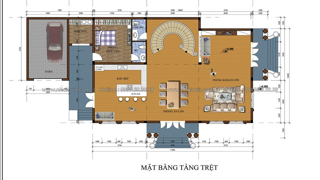 Thiết kế biệt thự 2 tầng kiểu Pháp tại Bình Dương lộng lẫy đến sững sờ - 04