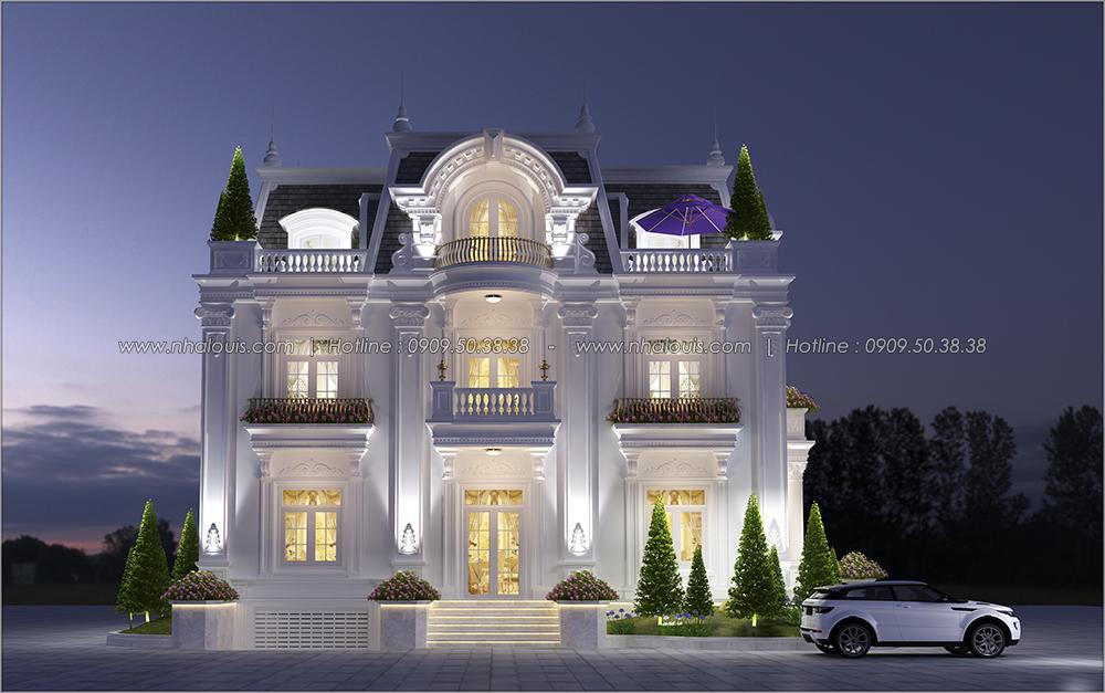 Thiết kế biệt thự có tầng hầm tại Bình Dương kiểu Pháp cao 2 tầng - 01